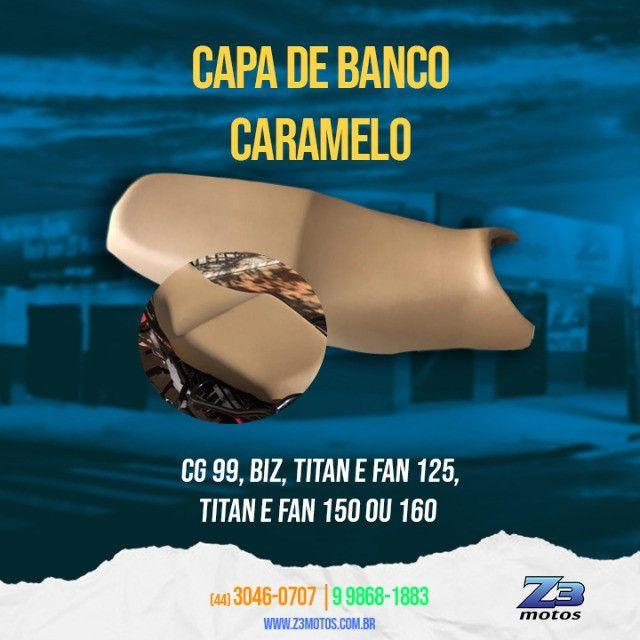 Capa banco caramelo Biz / Fan / Titan / cg