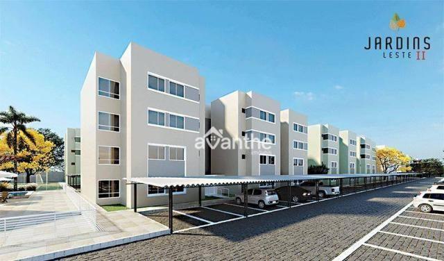 Apartamento com 3 dormitórios à venda, 59 m² por R$ 212.000 - Vale Quem Tem Zona Leste- Te