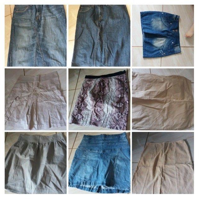 Sapatos e bolsas, vestidos, saias, calças, blusas - Foto 2
