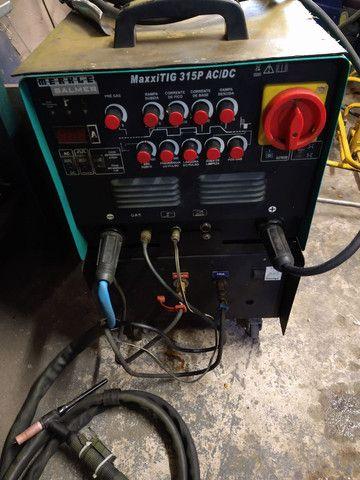 Máquina solda tig ,AC,DC 315 p malber pouco uso - Foto 2