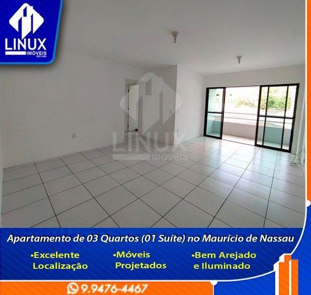 Alugo Apartamento de 3 Quartos (1 Suíte) com 88 m² no Maurício de Nassau em Caruaru/PE. - Foto 10