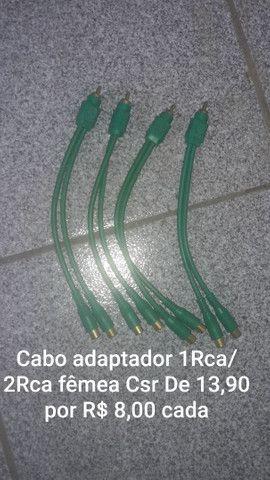 Cabo Adaptador 1Rca macho p/ 2Rca fêmea Csr