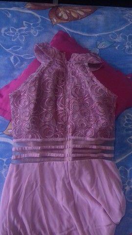 Vestido para festa ou madrinha de casamento rosê tamanho P - Foto 2