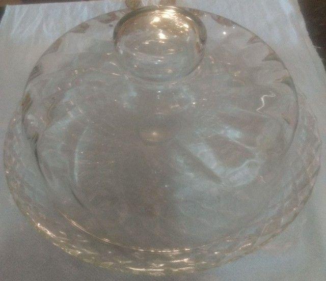 Boleira de vidro média
