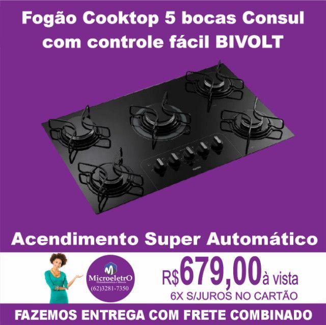 Cooktop 5 bocas Consul com controle fácil e acendimento automático - Bivolt