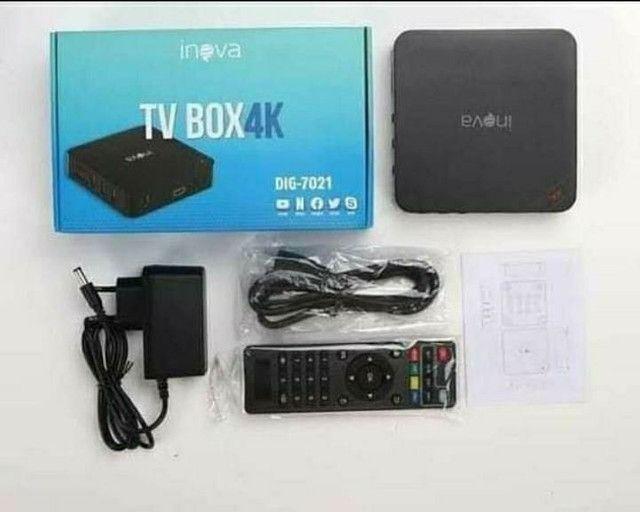 TV Box 4K 4GB   32GB Velocidade 5G Transforma TV em Smart Original Inova - Foto 2
