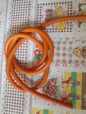 Borracha arbalete mergulho arpao elastico 14mm laranja  - Foto 2