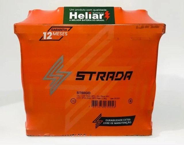 Baterias A partir de 198,00 Strada (Fabricação Heliar) 12 meses de Garantia