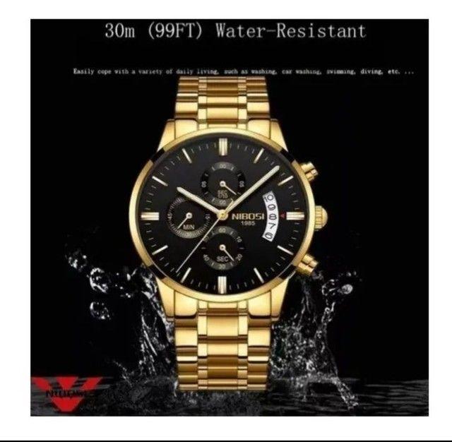Relógio Nibose Dourado modelo luxo  - Foto 3