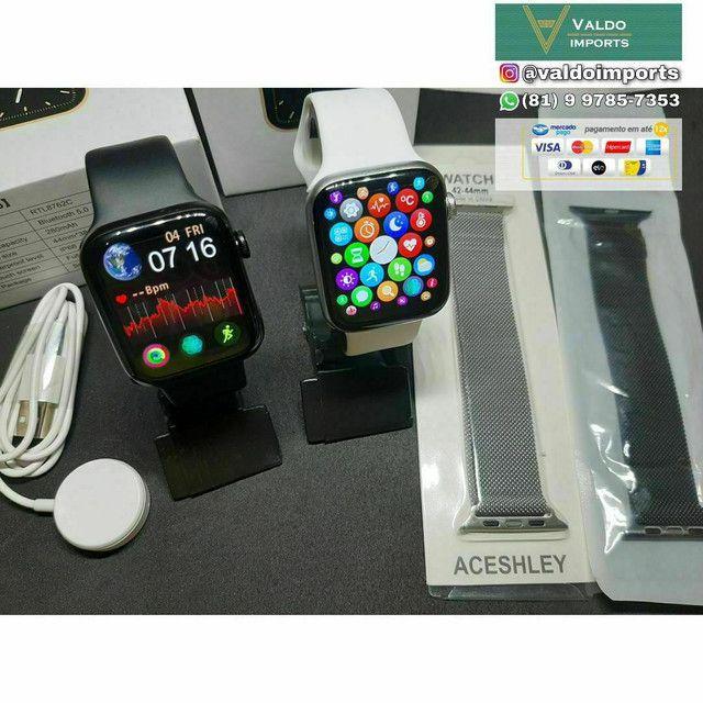 Relógio SmartWatch IWO W46 - NOVO (Compatível com Android e IOS)