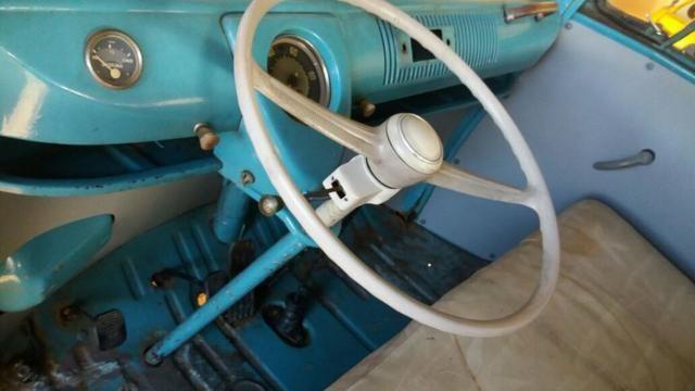 Kombi Corujinha 1964 azul, motor, suspenção, freios e elétrica nova - Foto 8