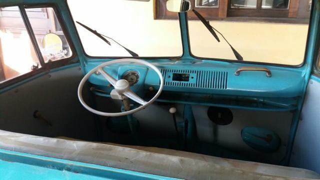 Kombi Corujinha 1964 azul, motor, suspenção, freios e elétrica nova - Foto 15