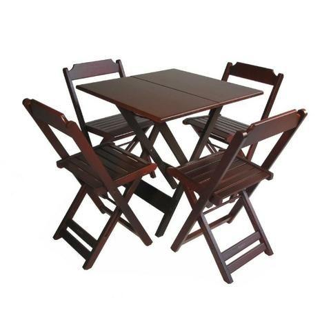 Conjuntos Dobráveis - Mesas 70 x 70 - com 2 ou 4 cadeiras - Foto 4