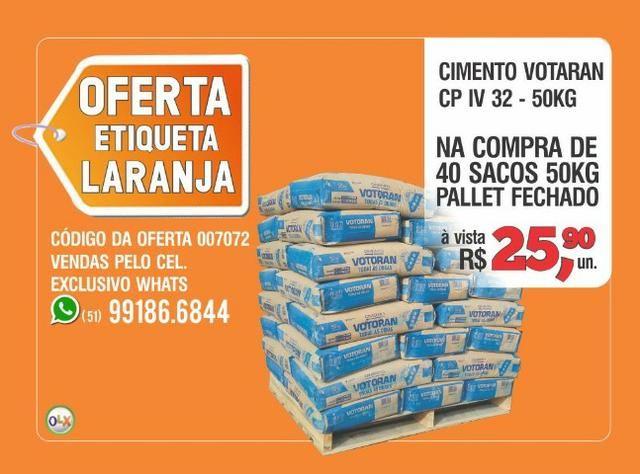 Votoran - Cimento CP IV 32 - Saco 50kg - Oferta etiqueta laranja