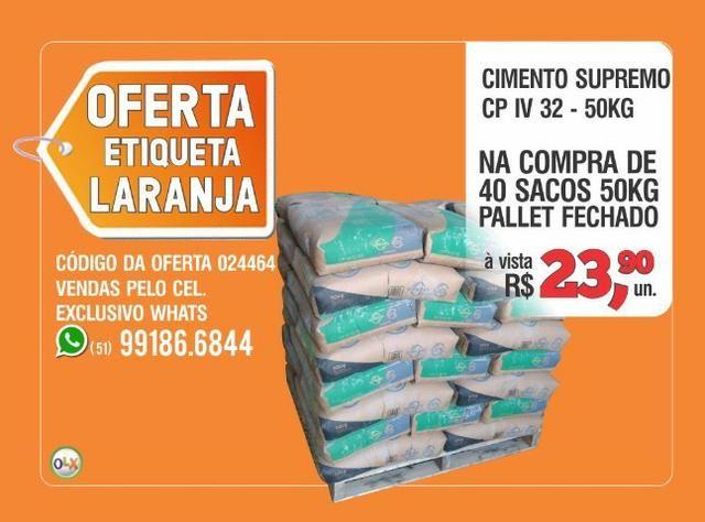 Supremo Cimento CP IV 32 - Saco 50kg - Oferta etiqueta laranja