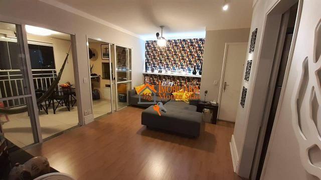 Apartamento com 3 dormitórios à venda, 93 m² por R$ 636.000,00 - Vila Augusta - Guarulhos/ - Foto 2