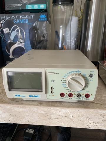 Multímetro Digital De Bancada 4 1/2 True Rms Md-6600 Icel - Foto 2