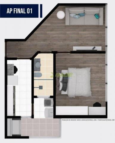 Apartamento com 1 dormitório à venda, 32 m² por R$ 199.000,00 - Centro - Pelotas/RS - Foto 4