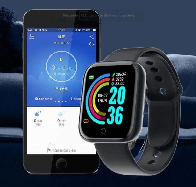 Relogio Inteligente Smartwatch D20 Bluetooth Preto - Foto 2