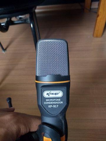 Microfone C/fio Condensador (fenomenal)