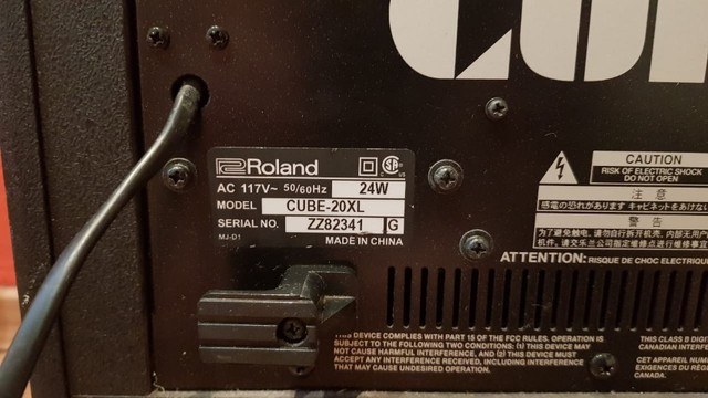 Amplificador roland CUBE 20XL cosm - Foto 3