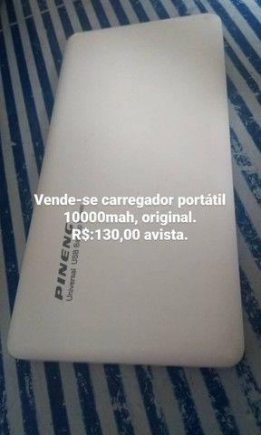 Carregador portátil 10.000 mAh, original.