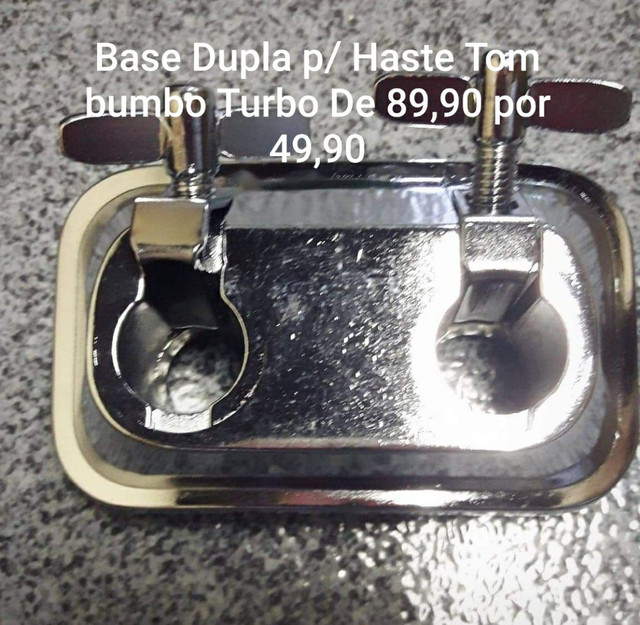 Base Dupla p/ Haste de tom bumbo Turbo