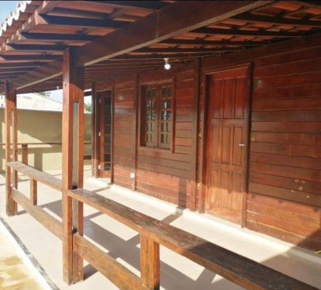 Casa de Madeira a 600 metros da CE-040 com terreno 400 m2 e deck preço de ocasião - Foto 5