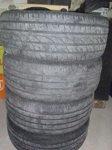 Vendo jogo completo pneu 235/45/18 furacão 4/100 aceito cartão - Foto 6