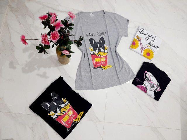 Camisa estampada mescla Bulldog G - Foto 5