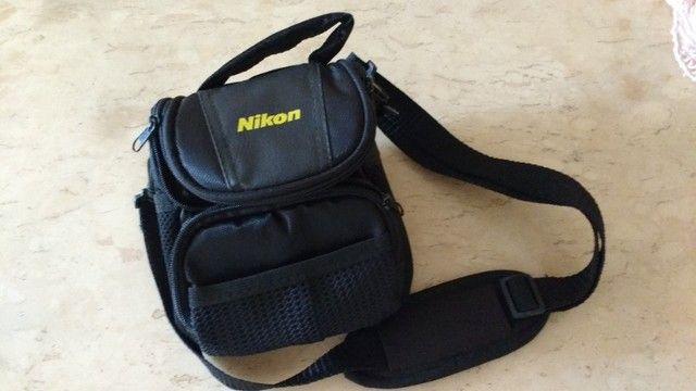 Bolsa Case para câmera fotográfica Nikon e filmadoras Com bolsas laterais e na frente