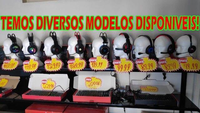 Super Headset com Leds Vermelhos ou Azuis! - Foto 6