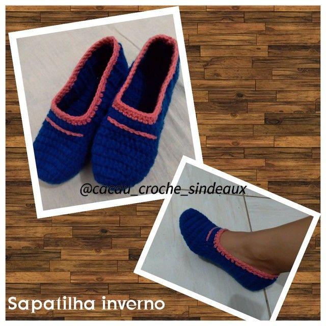 Sapatilhas crochê  - Foto 3