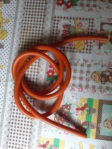 Borracha arbalete mergulho arpao elastico 14mm laranja  - Foto 3