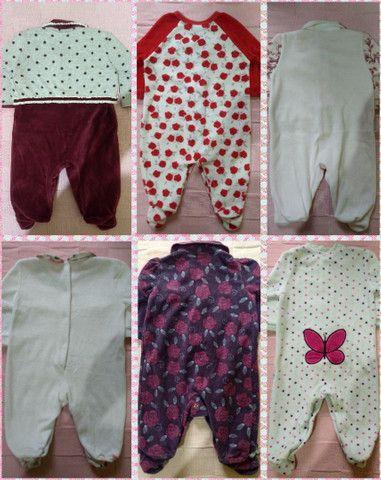Lote 7 macacões menina tamanho P - Aceito cartão - Foto 2