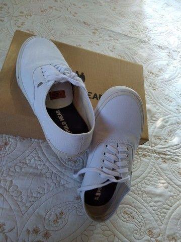 Tênis Polo Wear Branco/Branco - Foto 5