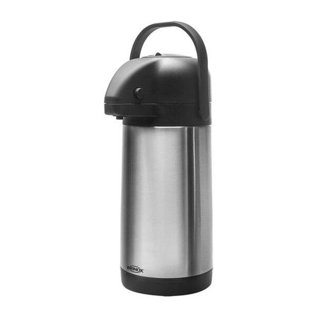 Garrafa térmica em inox Brinox 3 litros