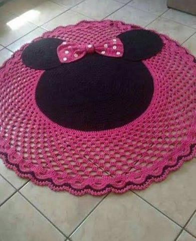 Tapete grandes de crochê para decorar . - Foto 3