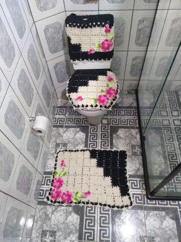 Lindos kits de banheiro em crochê 4 peças. - Foto 4