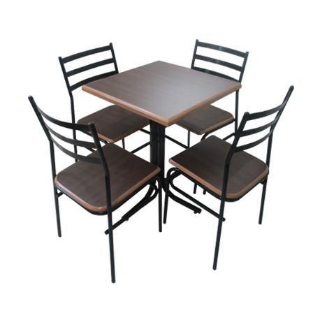 Mesa quadrada com quatro cadeiras - para buffet , restaurante , bares- entrega rápida