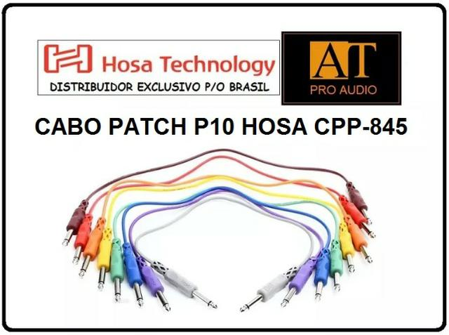 Hosa Cpp-845 Cabo Patch P10 Mono 45cm 8 Unidades Patchbay