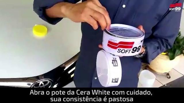 Cera Carnaúba Carro Branco Premium Soft99 350g Importada Original - Foto 2