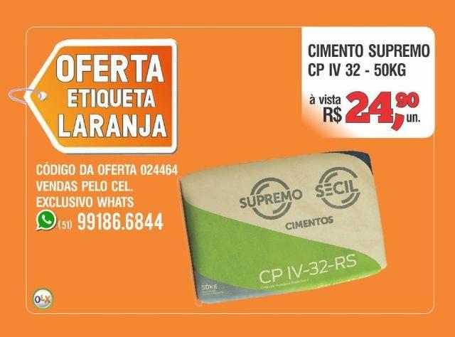 Supremo Cimento CP IV 32 - Saco 50kg - Oferta etiqueta laranja - Foto 2