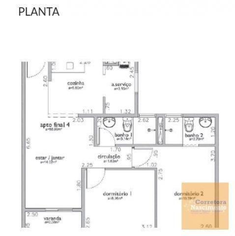 AP0927 - Apartamento com 2 dormitórios à venda, 59 m² por R$ 270.000 - Jardim das Indústri - Foto 19