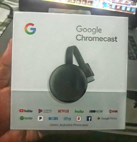 Google Chromecast 3 novo lacrado / aceito trocas