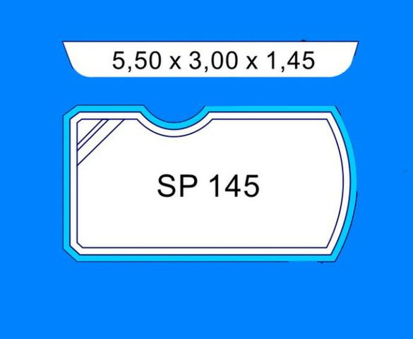 Piscinas de Fibras 5.50x3.00x1.45 Mega Oferta Completa com Equipamentos - Foto 2