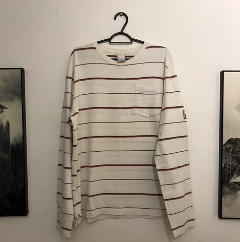 Camiseta manga longa osklen listrada