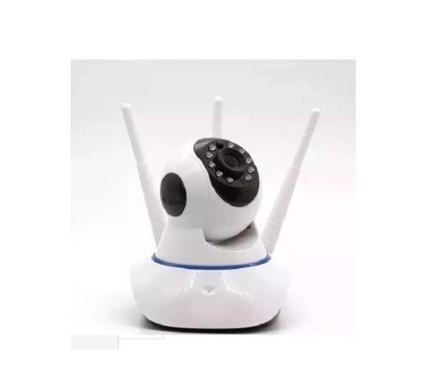 Camera IP Robô P2P 3 Antenas V380 Wi-Fi 720p Visão Noturna - Foto 4
