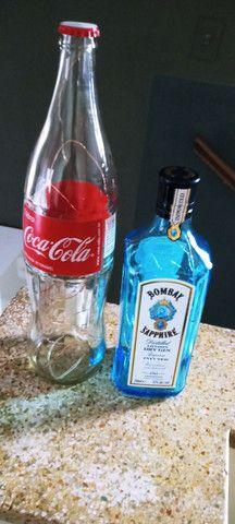 Luminárias garrafas decorativas diversas marcas de Garrafas nacionais e importadas - Foto 5