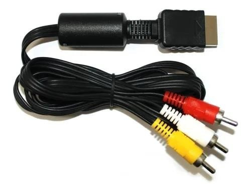 R$15,00 - Cabo Áudio E Vídeo Para Playstation 1, Ps2 E Ps3, 1,80m. - Foto 2
